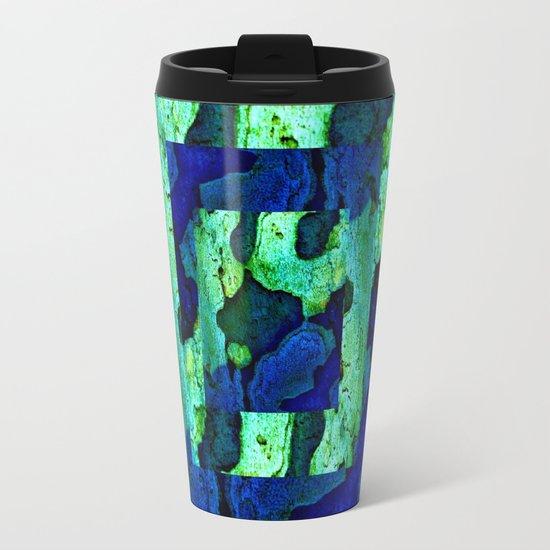 Nature in green blue 2 Metal Travel Mug