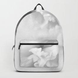 Blured white peonies Backpack