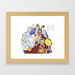 The Family Halloween Framed Art Print