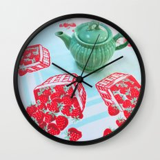 Strawberries! Wall Clock