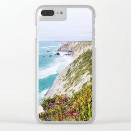 Portuguese cliffs Clear iPhone Case