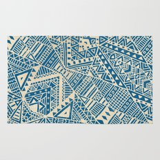 Tribal (blue)  Rug