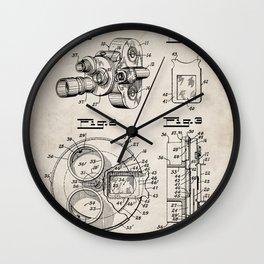 Movie Camera Patent - Film Camera Art - Antique Wall Clock