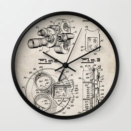 Movie Camera Patent - Film Camera Art - Antique Wall Clock