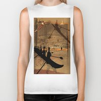 rowing Biker Tanks featuring Rowing by Robin Curtiss