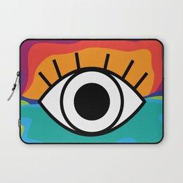 Bright Rainbow Eye Design Laptop Sleeve