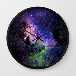 Fantasy Path Night Wall Clock