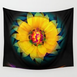 Sunflower Love Wall Tapestry