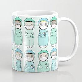 Kokeshis Nurses and doctors with EPI Coffee Mug