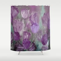 breaking Shower Curtains featuring Breaking Dawn by Jennifer Warmuth Art And Design