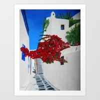 greece Art Prints featuring Greece by maggs326