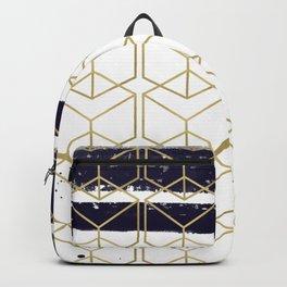 Blue & Gold Hexagon Backpack