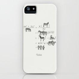 Alzebra iPhone Case