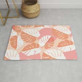 Abstraction_NEW_MONSTERA_LEAVES_BOHEMIAN_ART_003AA Rug