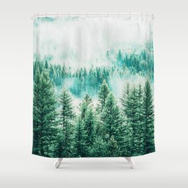 Forest + Fog #photography #nature Shower Curtain