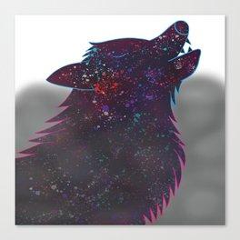 Splatter Wolf Canvas Print