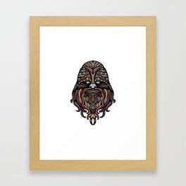 Brown Noodle Beard Hippy Framed Art Print