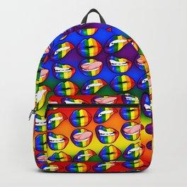 LGBTQ Rainbow Lips Backpack