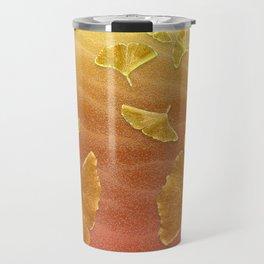 Golden Ginko Travel Mug