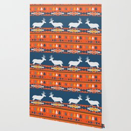 Deer winter pattern Wallpaper