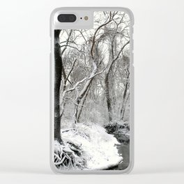 Snow at the Creek Clear iPhone Case