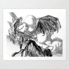 Dragon Roar! Art Print
