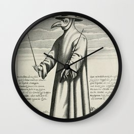 Plague Doctor Wall Clock