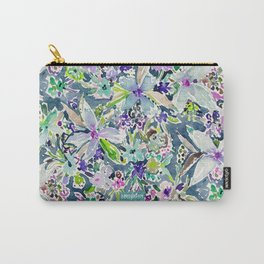 TALIA'S GARDEN Colorful Badass Floral Carry-All Pouch