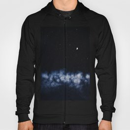 Contrail moon on a night sky Hoody