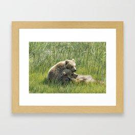 I Got Your Back - Bear Cubs, No. 4 Framed Art Print
