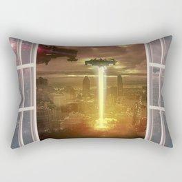 City under Attack thru a Wino Rectangular Pillow