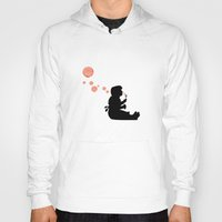 banksy Hoodies featuring Banksy Bubbles by DomaDART