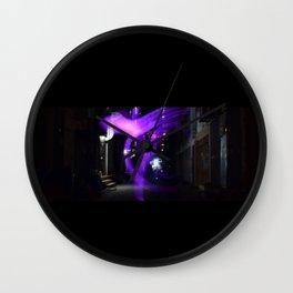 Dark Alley Wall Clock