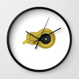 """A classic and funny sparkling star-gazer saying """"Astronomer, You Won't Like Me When Its Cloudy"""".  Wall Clock"""