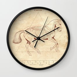Da Vinci Horse: Canter Wall Clock