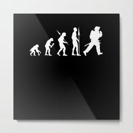 Firefighter Evolution Metal Print