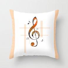 Music Is Art Music Nots  Throw Pillow