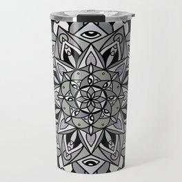 Dark Mandala Travel Mug