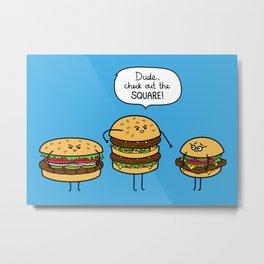 Burger Bullies Metal Print