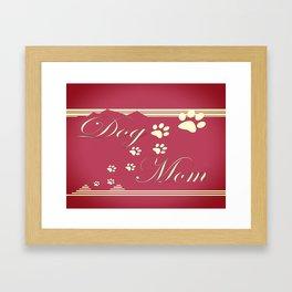 Dog Mom Framed Art Print