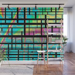 Rainbows and lines Wall Mural