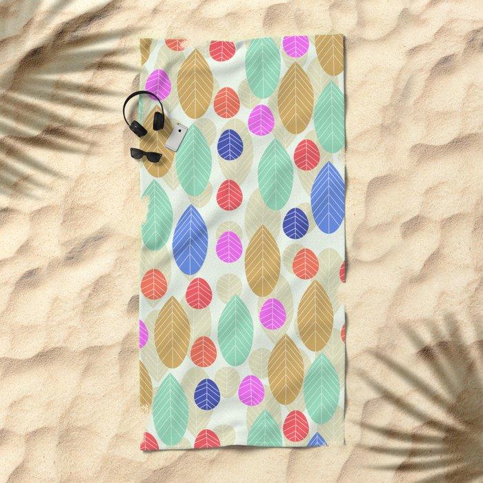 Leaf joy Beach Towel
