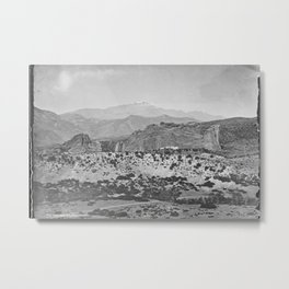 Pikes Peak and the Garden of the Gods, looking over the Gateway. Metal Print