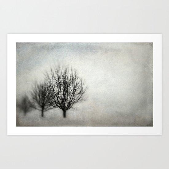 Winter in Matsqui Art Print