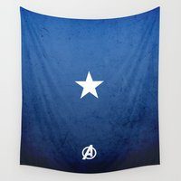 captain silva Wall Tapestries featuring CAPTAIN by El Pigro