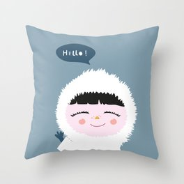 Cute little Eskimo Throw Pillow