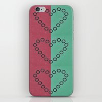 aperture iPhone & iPod Skins featuring aperture heart by lizbee