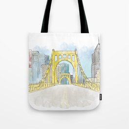 Roberto Clemente Bridge Tote Bag