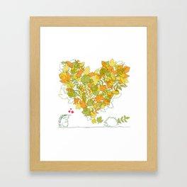 Heart of leaves 4U Framed Art Print