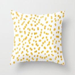 Gold Sprinkles Throw Pillow